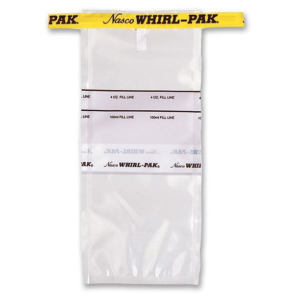 Picture of Whirl-Pak® Flat Wire Bags with Write On Strip 4 oz