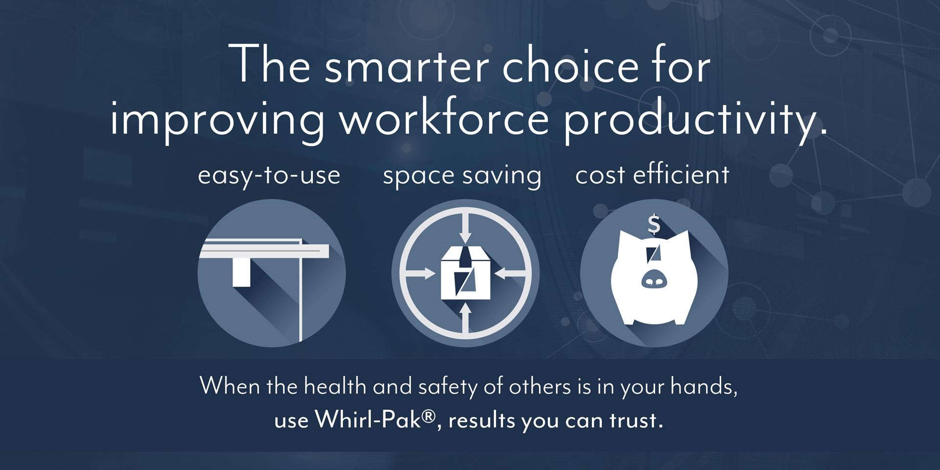 Improve workforce productivity with Whirl-pak bags